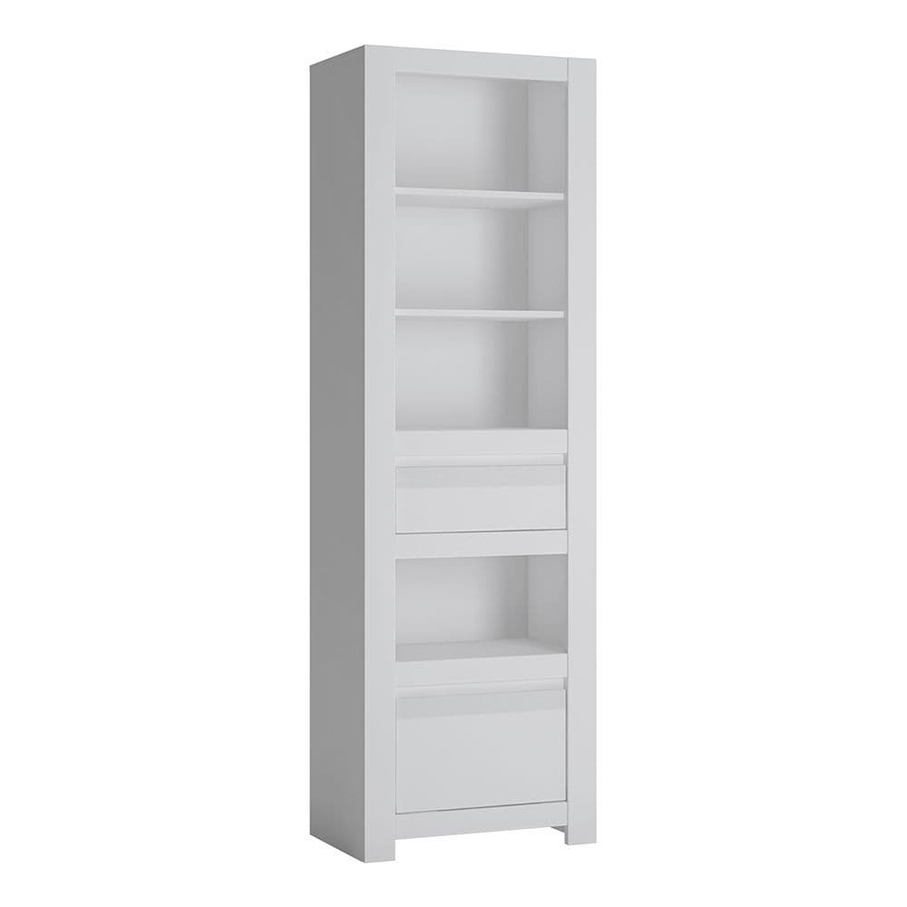 Alita 2 Drawer Bookcase in Alpine White